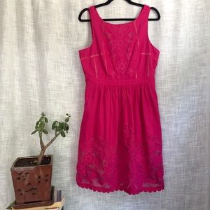 Anthro Moulinette Soeurs Pink Rhododendron Dress